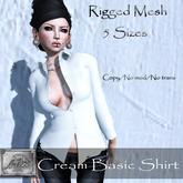 [M.o.w] Cream Basic Shirt (wear & touch)