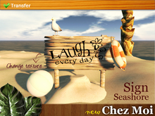 Sign Seashore 1.0 ♥ NEW Chez Moi