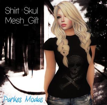 [PM] Shirt Skul Mesh_ Gift