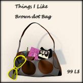 Things I Like - BROWN DOT BAG