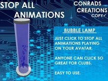 Stop All Animations Bubble Lamp.