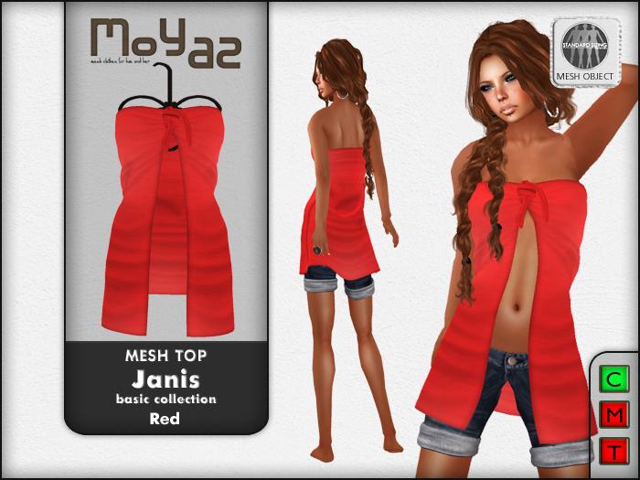 Janis Mesh Top Red