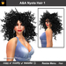 A&A Nyota Hair 1 (Color 1 from 11 Colors Value Pack). Wild curly womens hairstyle