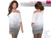 CLASSIC RIGGED MESH Off Shoulder Short Sleeve Mini Sweater Tunic Dress - 2 TEXTURES Gray, Purple