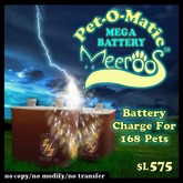 Pet-O-matic Mega Battery V1.0 BOXED 575L