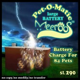 Pet-O-matic Large Battery V1.0 BOXED 290L