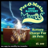 Pet-O-matic Small Battery V1.0 BOXED 100L