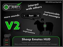 ●GD● Sheep Emotes HUD [9 Sounds, Custom Chat Messages, Baah At Others] Goat Gesture Emoting Animal HUD