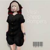 AMERIE - Mesh sheep rompers(Black)!