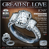 JCNY - 'GREATEST LOVE, Engraving Edition, Wedding Rings