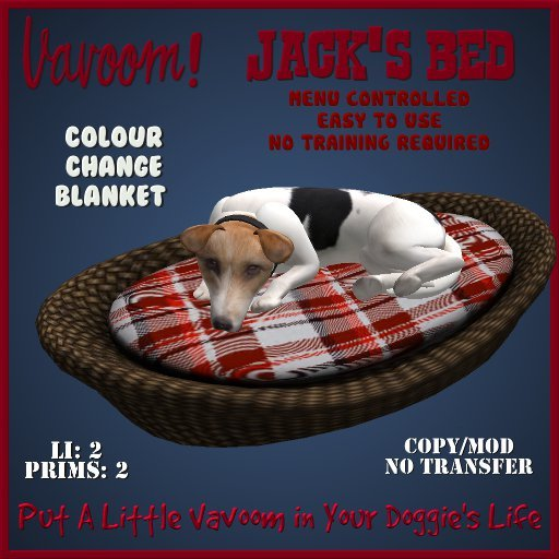 Jacks Bed by Vavoom! Boxed Toys and Accessories for Virtual Kennel Club (VKC®) Pets - No Training Required