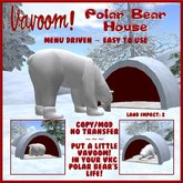 Polar Bear House by Vavoom! - Low Prim Igloo Dog House - Toys and Accessories for Virtual Kennel Club (VKC®) Pets