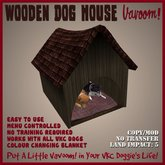 Wooden Doghouse by Vavoom! - Toys and Accessories for Virtual Kennel Club (VKC®) Pets - Pet House - No Training Required