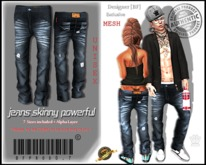::[BuFu]::Prod0.7_Mesh_Jeans_Skinny_Powerful / ORIGINAL BLUE