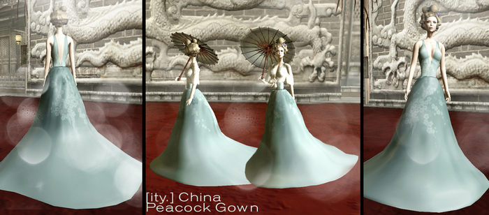 [ity.] China - Peacock Gown