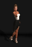.R:R. The Avae Skirt Outfit - Mesh - Black