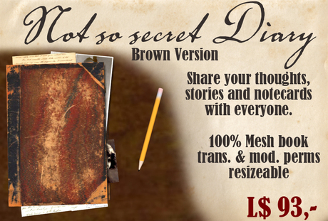 Not so secret Diary or journal - Mesh - Brown version share notes with everyone