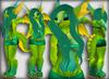 Mammalian Dragoness - Lemon Lime - For Blue Galaxy Feline and Chinchilla