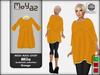 Mila Mesh Maxi Shirt ~ Burbalula collection - Orange