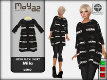 Mila Mesh Maxi Shirt ~ Demo