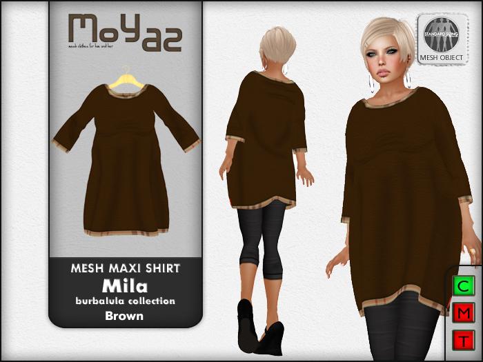 Mila Mesh Maxi Shirt ~ Burbalula collection - Brown