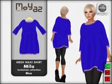 Mesh maxi shirt Mila ~ Burbalula collection - Orange wear me!