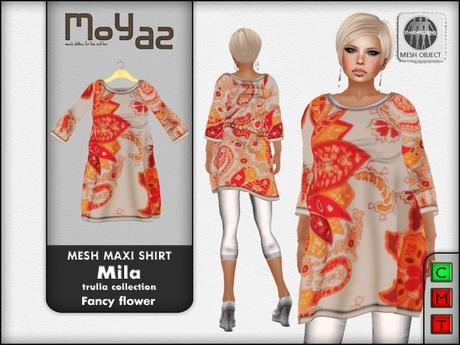 Mila Mesh Maxi Shirt ~ Trulla collection - Fancy flower