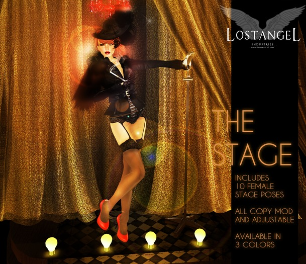 """[LA] LOSTANGEL:  """"The Stage - Gold"""" - Multipose"""