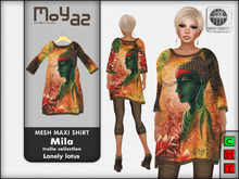 Mila Mesh Maxi Shirt ~ Trulla collection - lonely lotus