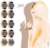 [DDL] Nai (Watch) (Black / Gold)