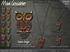 Necklace - Jewelled Owl - Gold and Silver