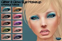 .:Glamorize:. Glitter & Glow Eye Makeup - 10 Eye Makeup Tattoos