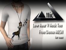 -ATTIC- Low Roar V Neck Men's Tee dollarbie