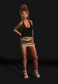 .R:R. MESH - Bodycon Mini Skirt - Brown Tribal