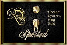 """""""Spoiled"""" Eyebrow Ring Gold(Boxed)"""