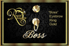 """""""Boss"""" Eyebrow or Belly  Ring Gold"""