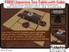 FREE Japanese Tea Table with Sake Set - Free to group memebers at inworld store!