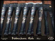 *X*plosion (m) BobbesJeans Normal (blue)