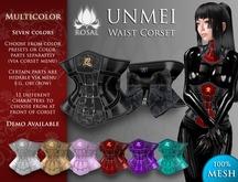 [ROSAL] UNMEI Waist Corset - Multicolor (Mesh)