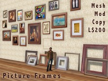 Scripted Mesh Picture Frames