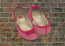 **Dolly Queen** Houndstooth Mesh Ballet Flats (Carmine)