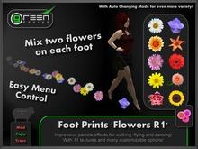 ●GD● Foot Prints 'Flowers R1' [Multi Color, Walk/Fly/Dance] Customizable Paw Prints Walking Effect