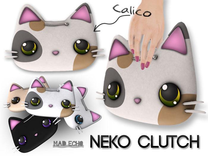[Mad Echo] - Calico Neko Clutch