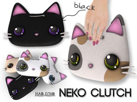 [Mad Echo] - Black Neko Clutch