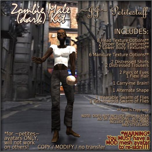 ~JJ~ Petitestuff Zombie Male (dark) Kit