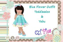 ~QT Pies Blue flower outfit TD & Yabu