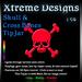 Xtreme Skull n Cross Bones Neon TipJar
