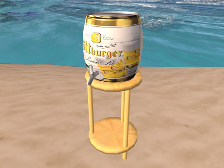 Beer Keg with Table