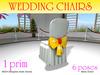 6 colors Wedding Chair ,1 Prim, 6 poses.