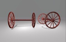 "1 prim full perm ""Wagon Wheel Pair"" sculpt map, any texture"
